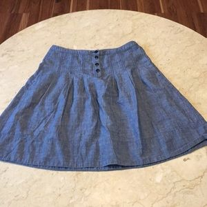 JCREW Jean Chambray Skirt sz 4